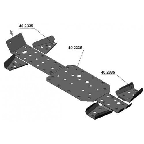 Комплект защиты для Stels Dominator 800